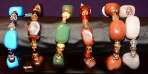 BRACELETS - LARGE NUGGETS ON STAND